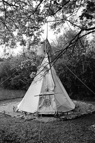 Under The Lime Tree Spa ~ Tipi - Cellefrouin
