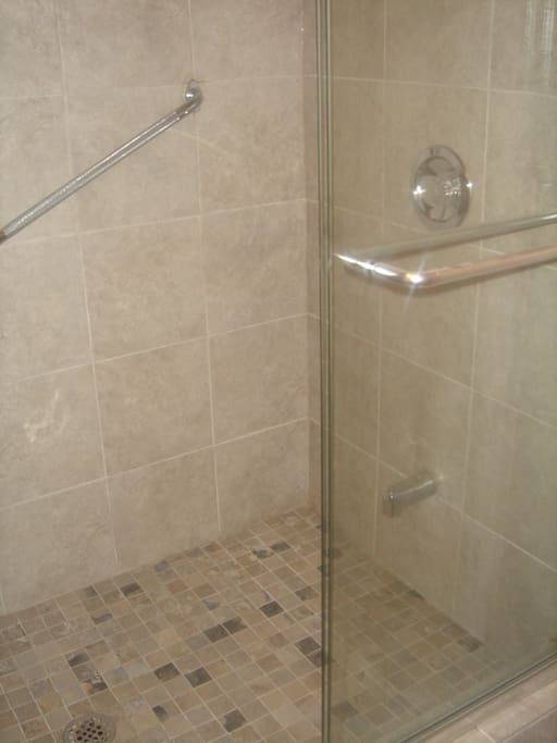 New updated shower in ensuite 1