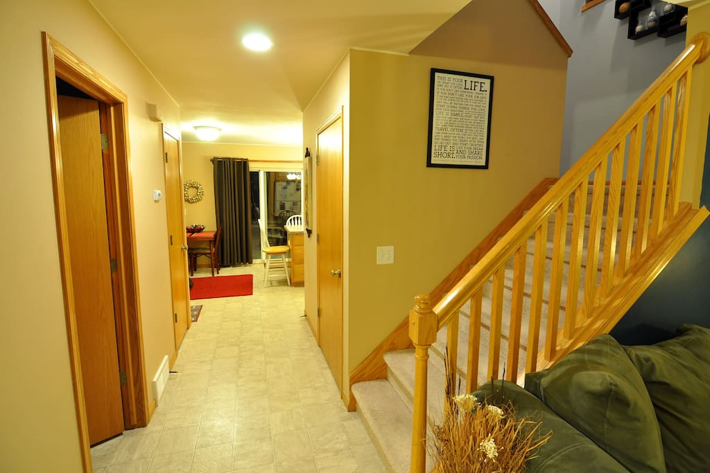 Main Hallway, entrance, and staircase.