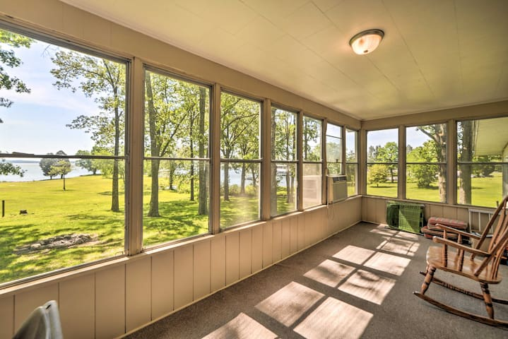 NEW! Lakefront Cottage w/ Private Dock and Views!