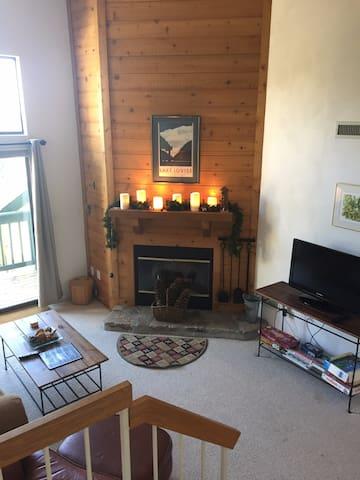 Ski-in 2 bedroom (plus loft) cozy 7Springs condo!