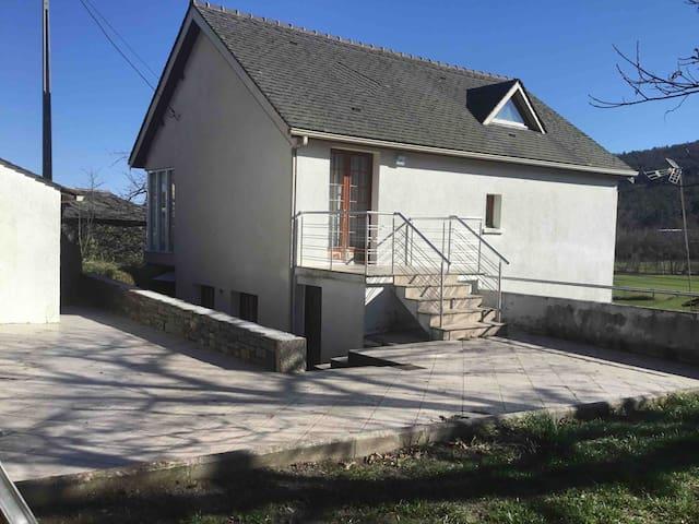 Duplex house in center village