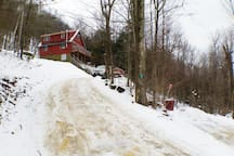 Driveway in the winter