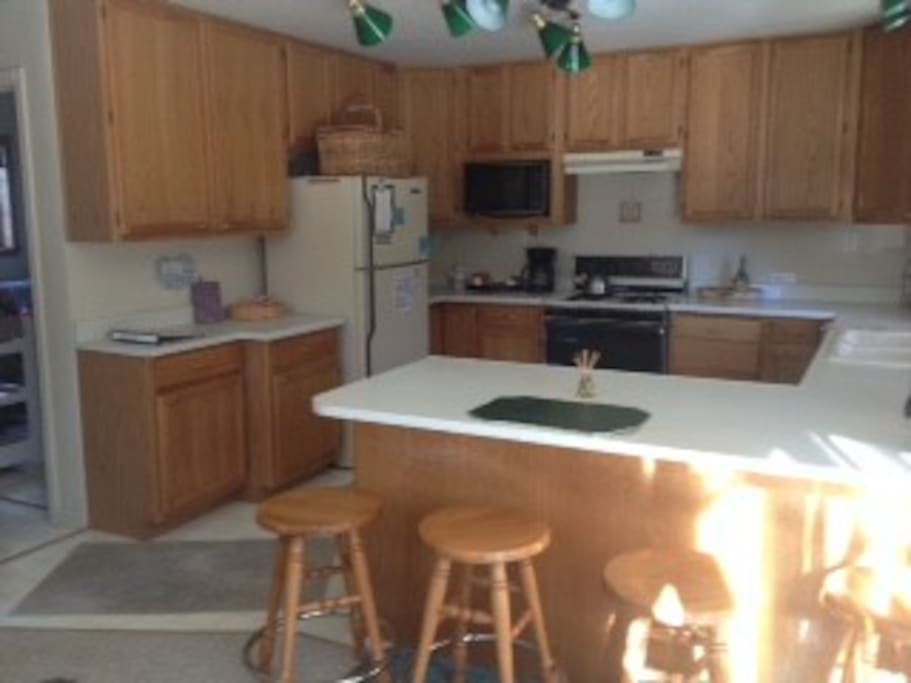 Open Large Kitchen adjacent to family room.