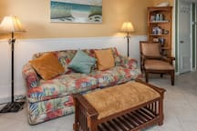Relax after a day on the beach or open the sleeper sofa