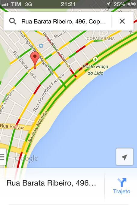 localização precisa do imovel, saida para praia no posto 4, o centro da orla de copacabana