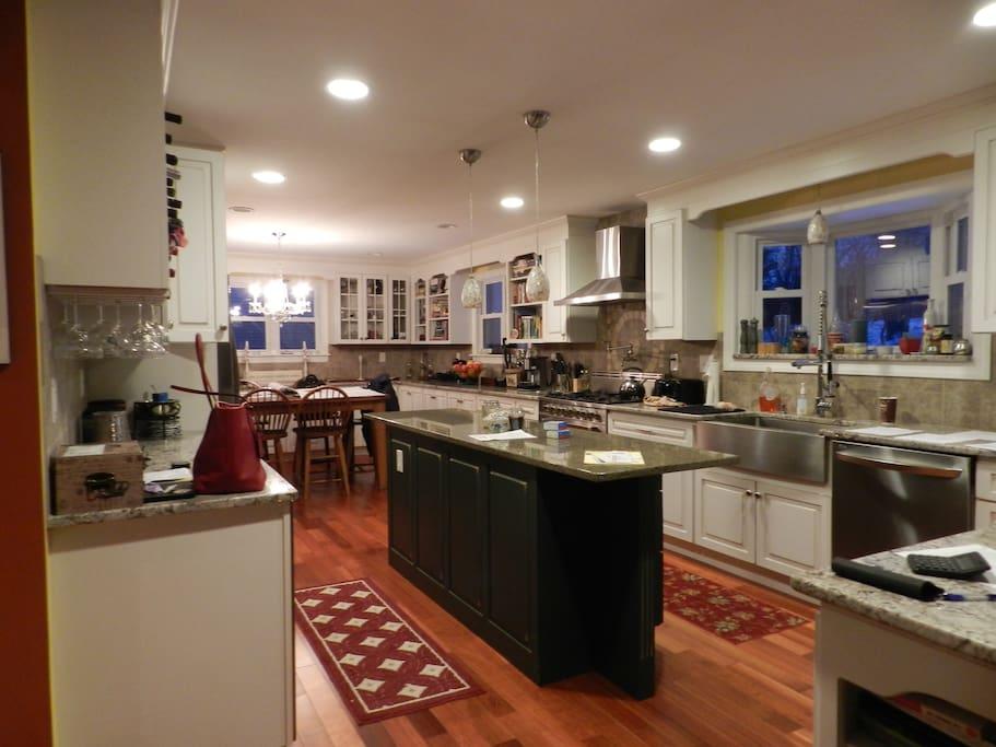 Gorgeous large gourmet kitchen