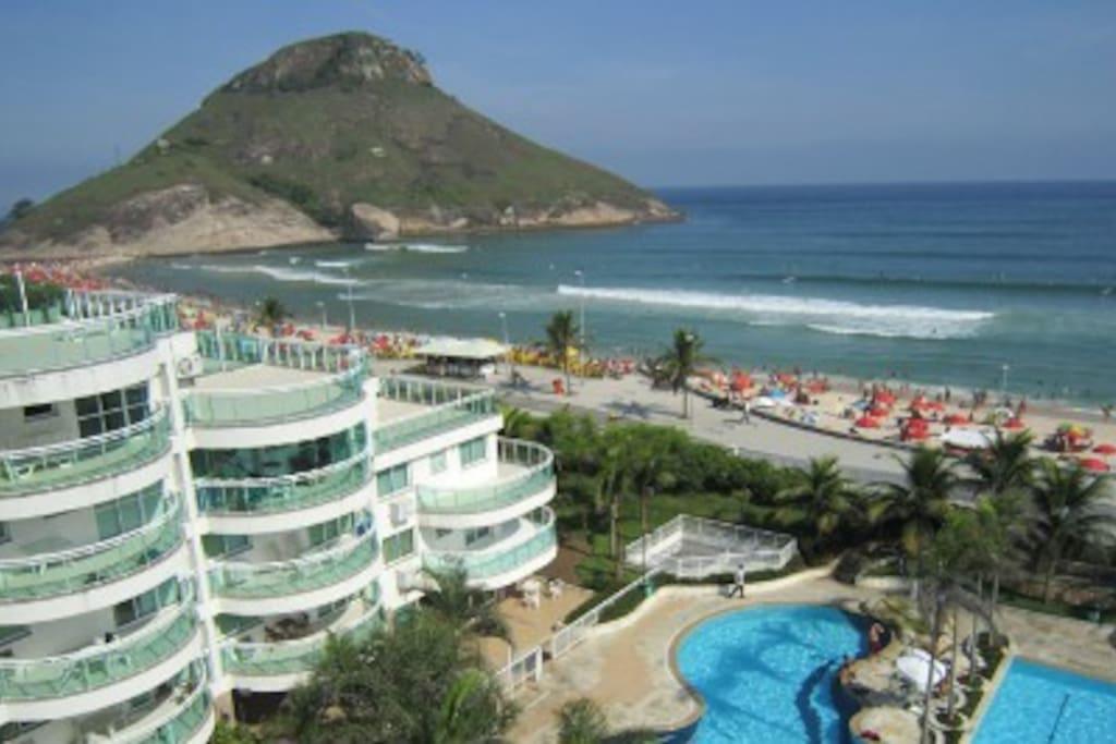 Posição do Condomínio na Praia do Pontal