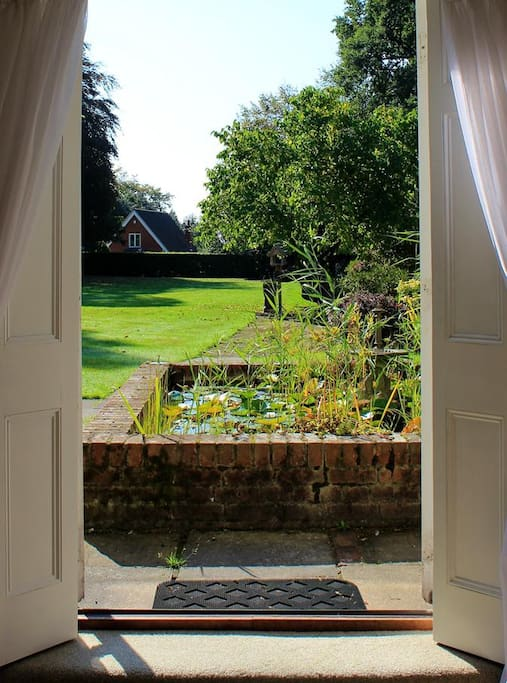 Fantastic views from french doors which open onto the garden.