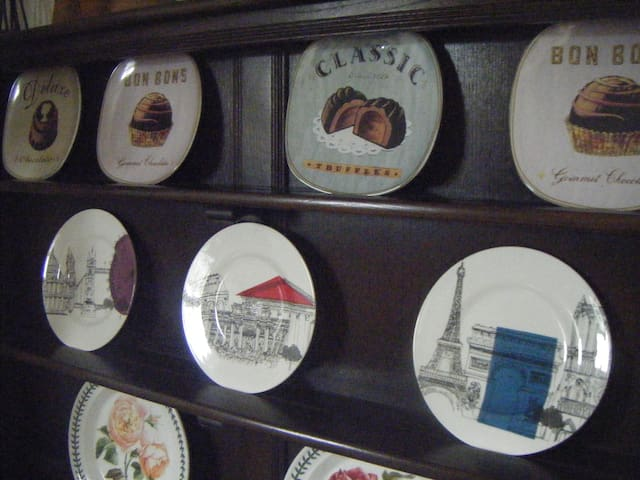 Dining Room Dresser with plate collection