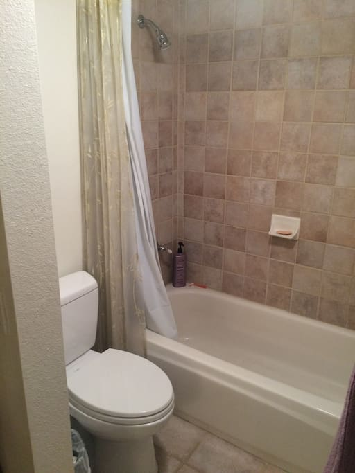 Full guest bath adjoining guest bedroom