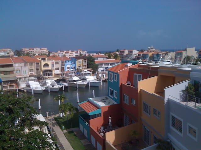 Waterfront villa, close to beach.