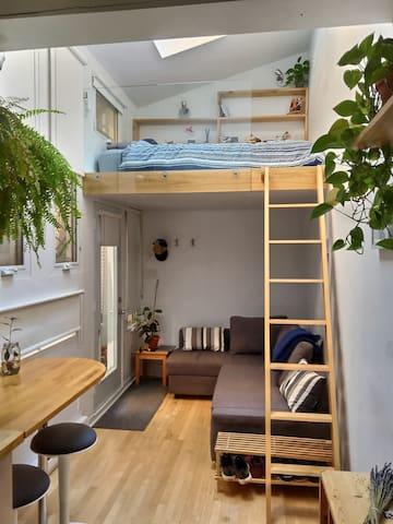 Comfortable loft in Villeray/Little Italy