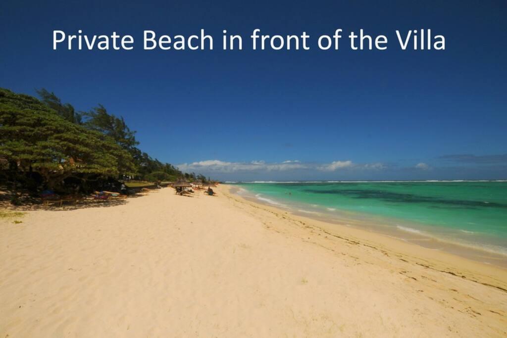 Villa mit Pool am palmar Strand in Mauritius zu vermieten