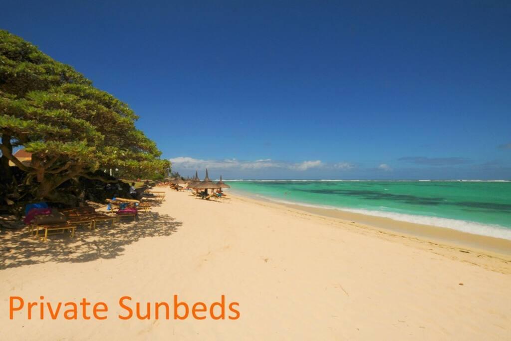 Villa con piscina in spiaggia palmar in mauritius affitto