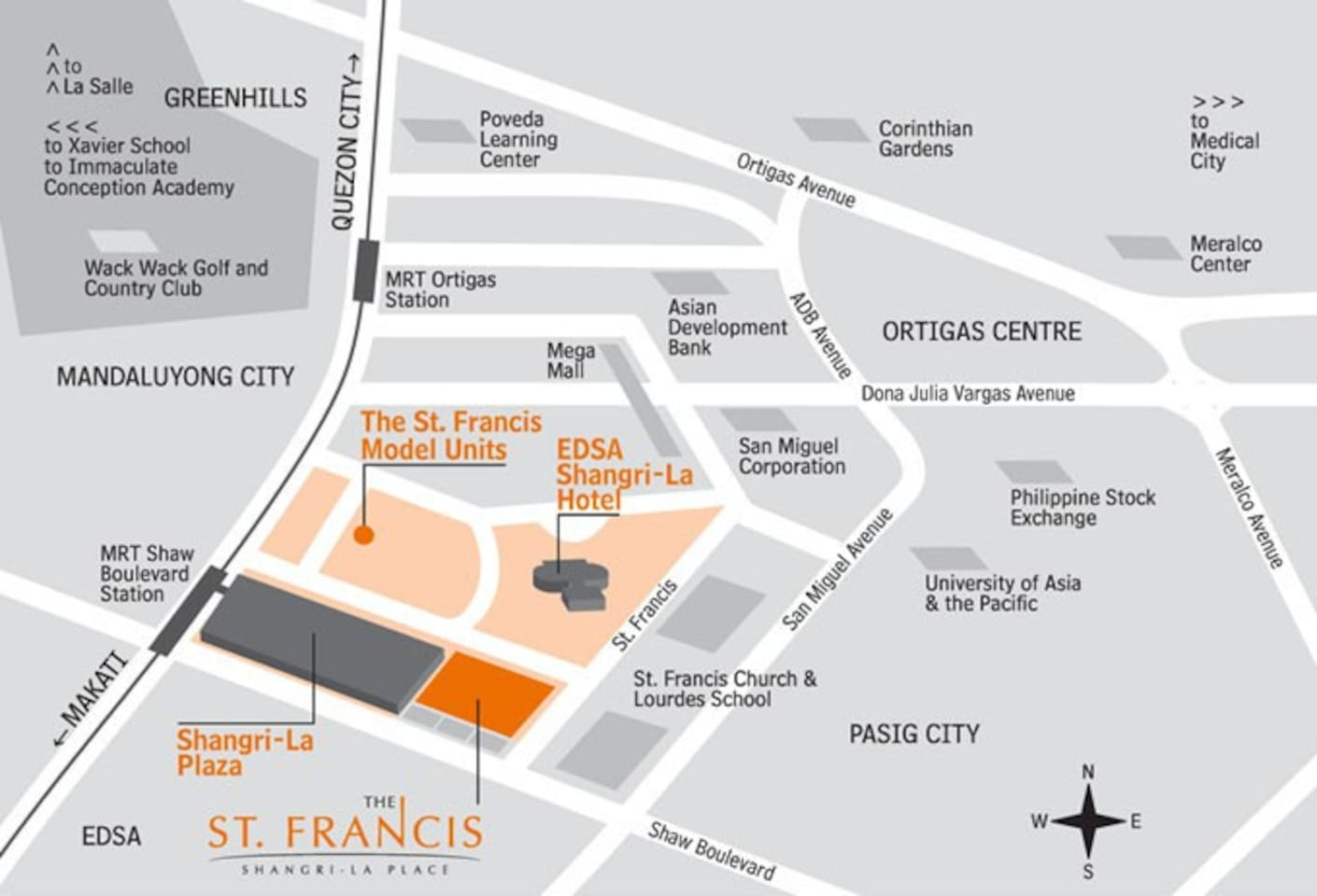 Crib for sale mandaluyong - St Francis Shangrila Luxury Studio Apartments For Rent In Mandaluyong Metro Manila Philippines