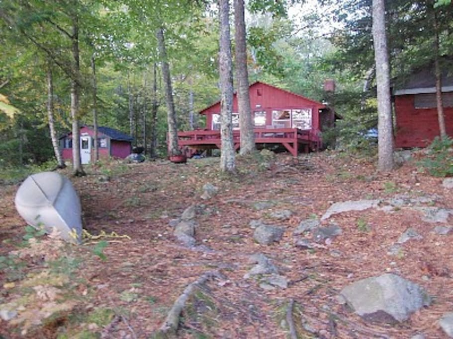 View from dock - Short distance to house and sleeping cabins.