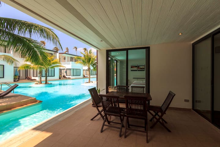 Pool access apartment, 3 bedrooms - Koh Lanta
