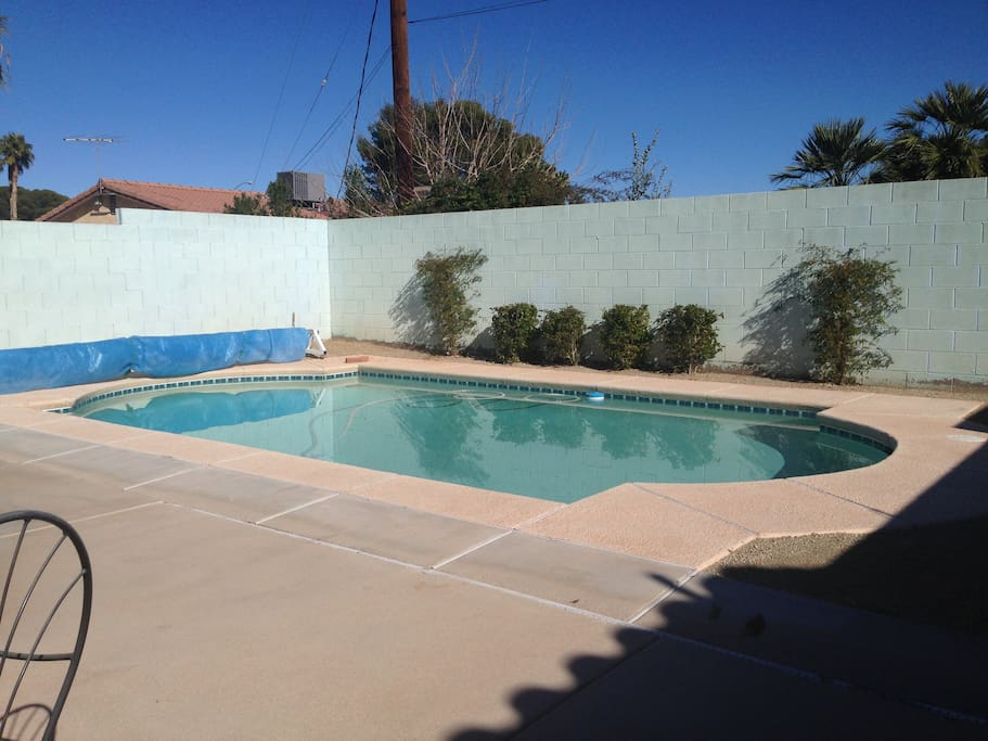 Pool maintenance is done by professional service company.