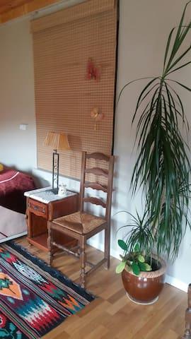 Une chambre-salon dans une maison - Oradour-sur-Glane - House