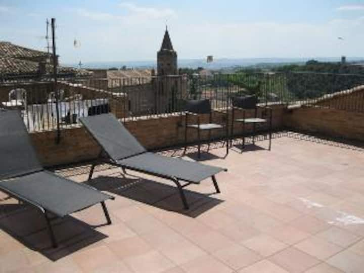 Tremendous view from your terrace in Palazzo Bono