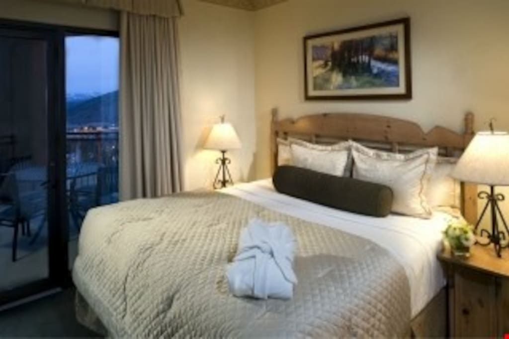 Get a good night's rest in the master bedroom.