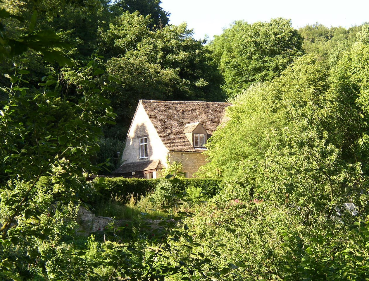 Tythe Barn from the south: a studio for two