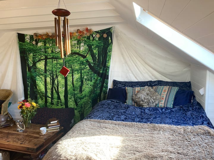 Quiet shared bohemian home near Glastonbury