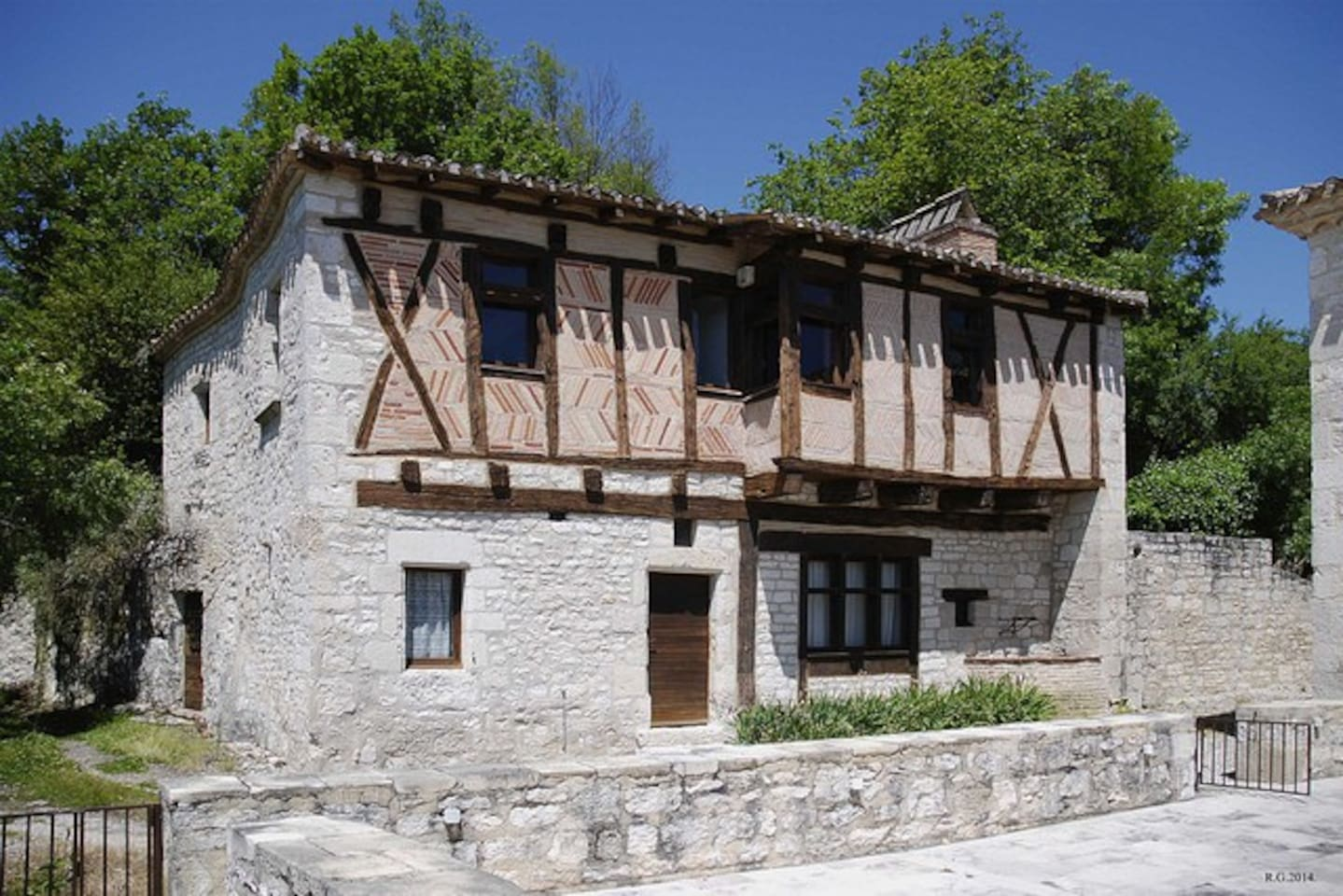 The house is renovated medieval style