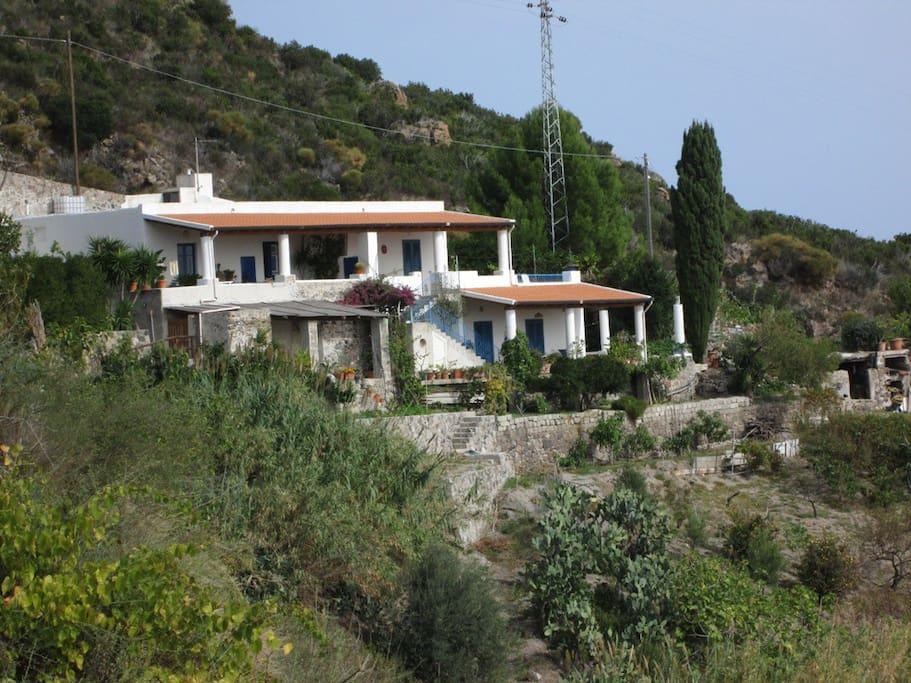 Casa Glicine al piano superiore lato destro