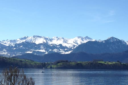 Lake Lucerne and mountains - Merlischachen  - Casa