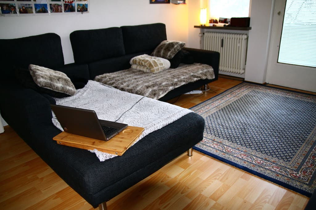 large couch to relax, watch tv or sleep