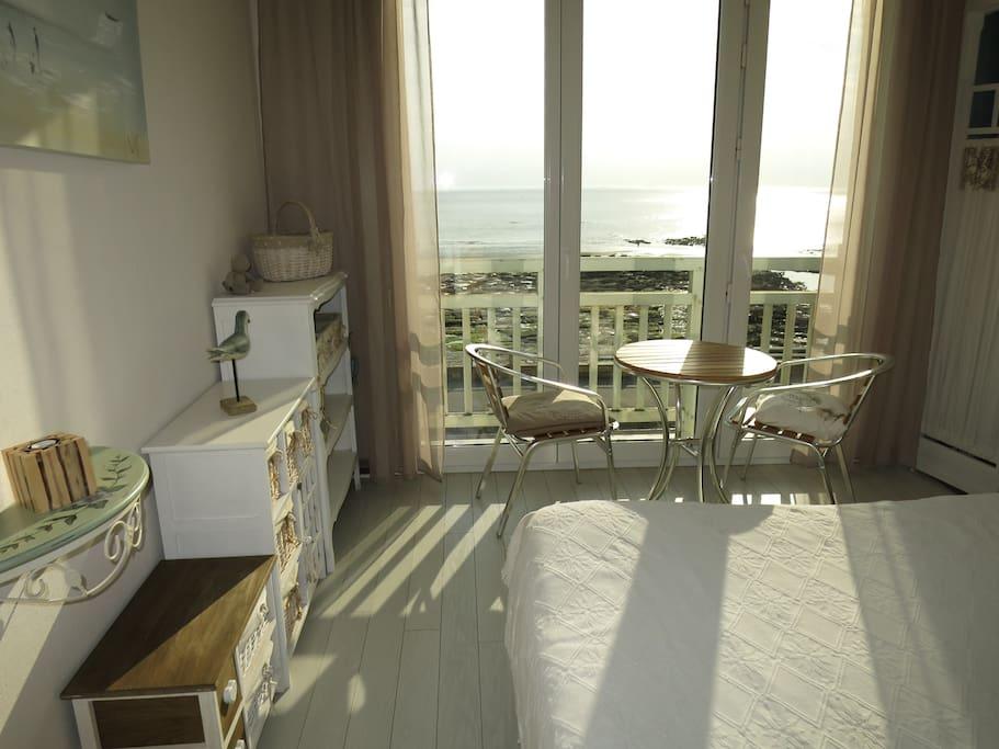 chambre parentale face mer