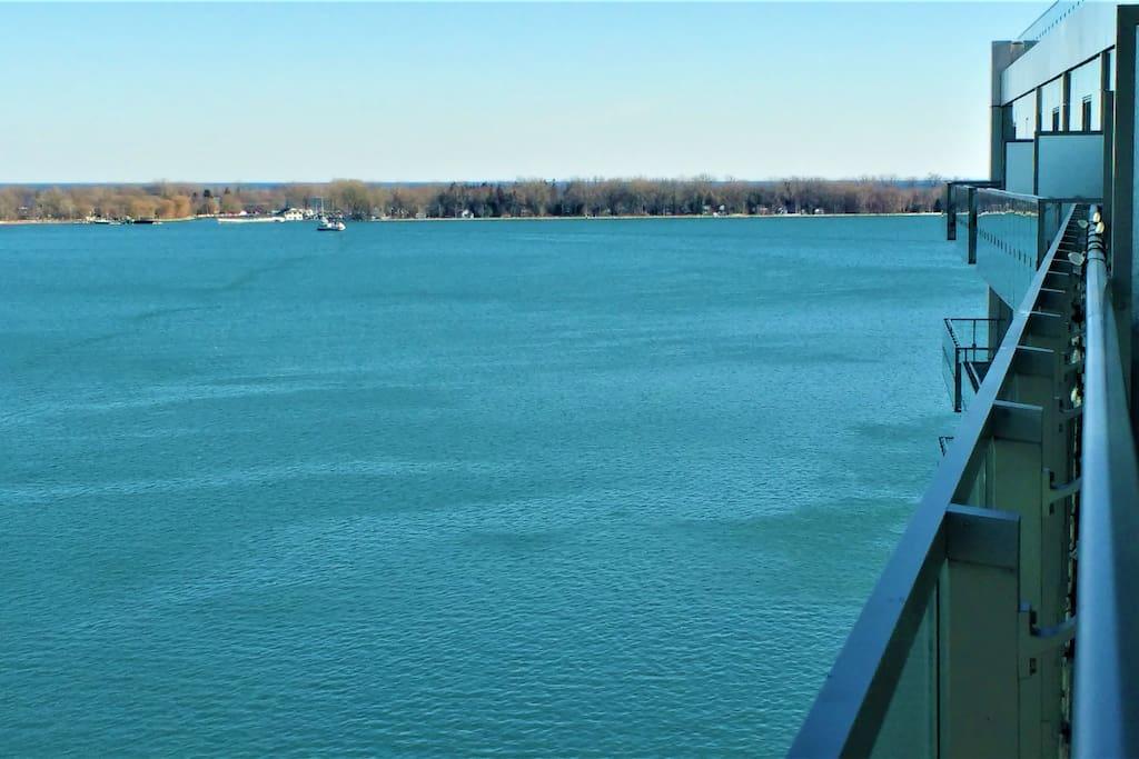 View from balcony, overlooking Toronto Islands