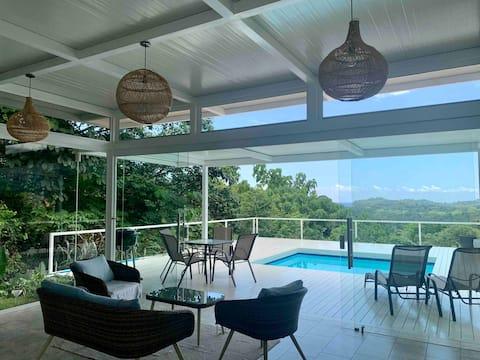 Villa Lucía - Ojochal, jungle and sea horizon