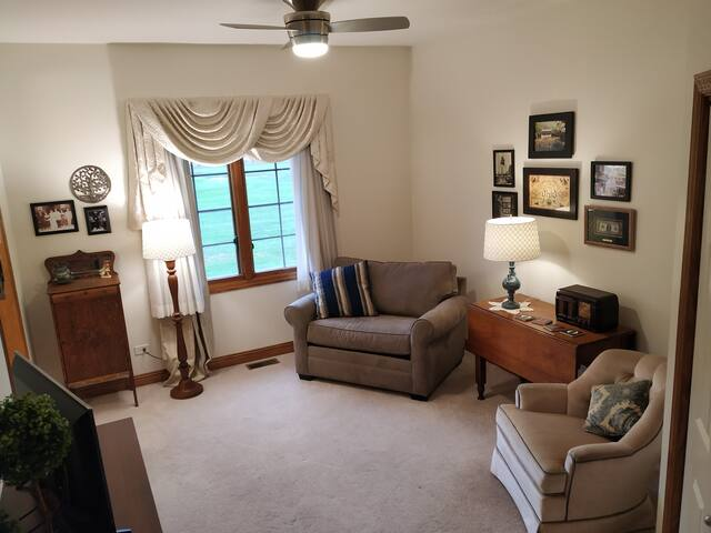 Sitting Room with furniture and memorabilia from historic family business