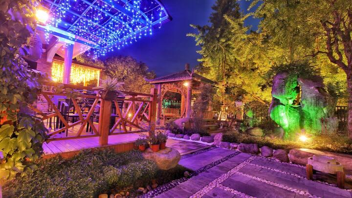 【墨居·阅湖】超大中式庭院 一线湖景 提供早餐 别墅中的独立房间 建德梅城古镇 近高铁站