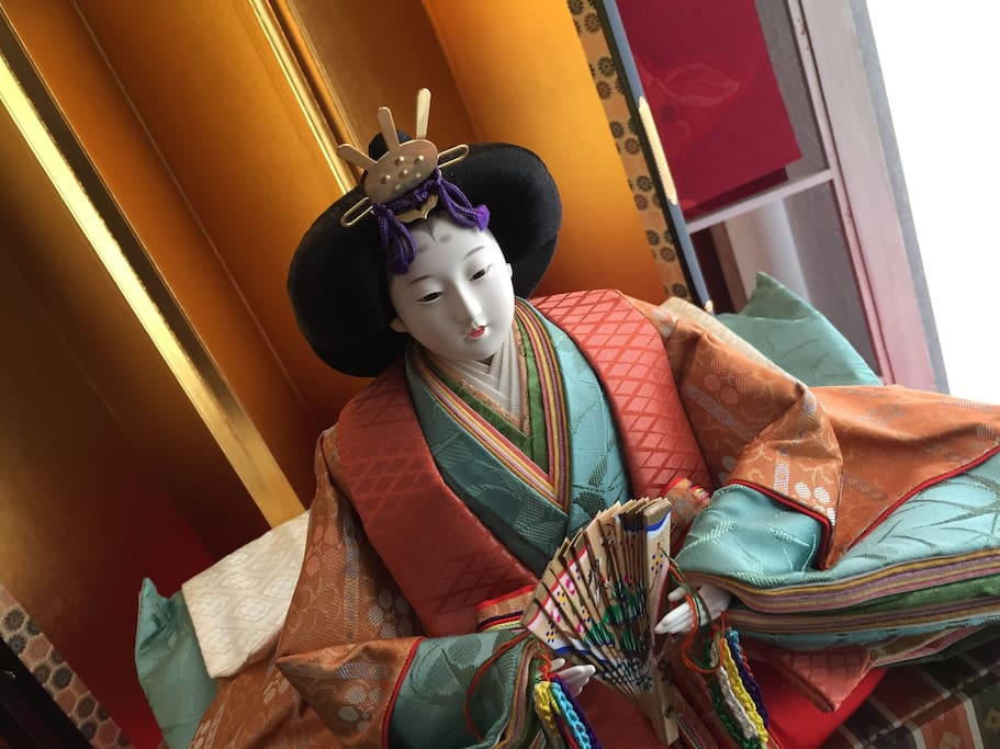 Hina dolls. A festival centering on young girls' growth and happiness.