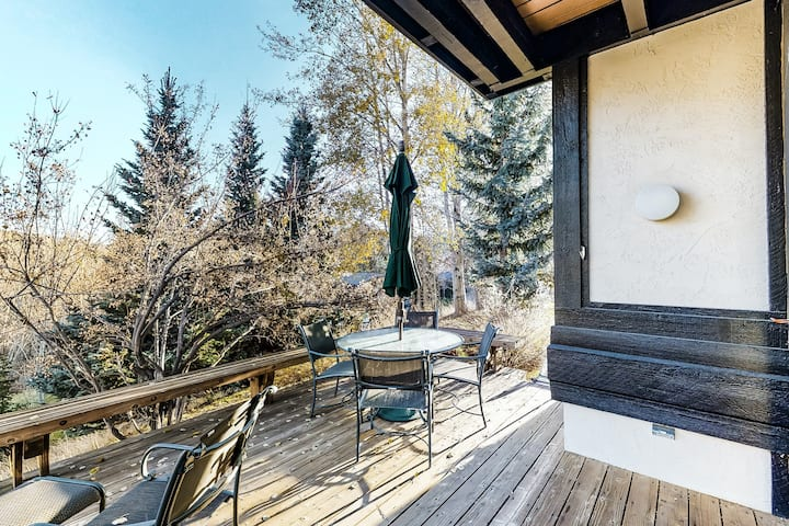 Perfect Ketchum retreat w/ scenic deck, wood-burning fireplace, & free WiFi