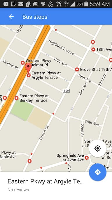 Express bus to NYC at Argyle & Eastern Pkwy..Google Irvington NJ bus stops