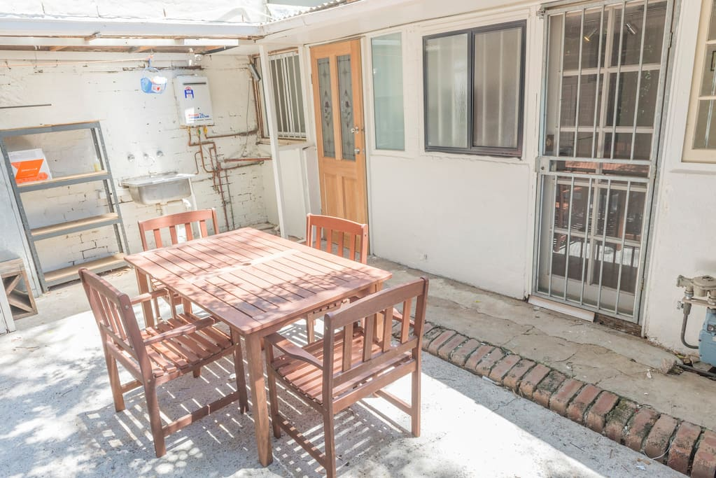 Outdoor area, perfect for soaking in some sun or eating your breakfast.