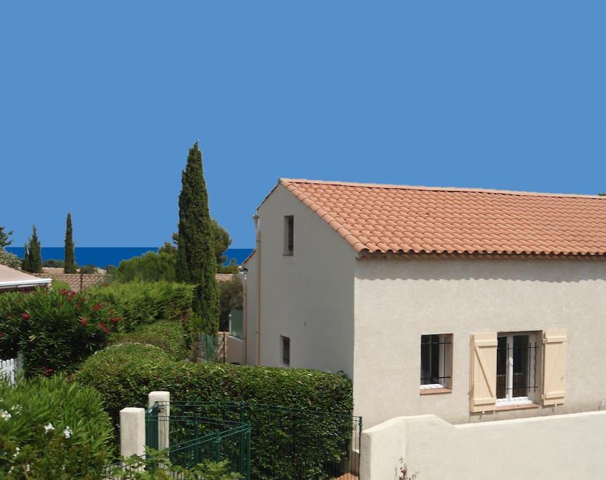 The villa, named Le Chat Bleu