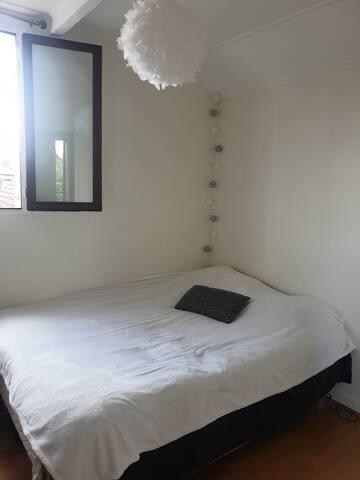 Chambre cosy dans appartement avec acces jardin