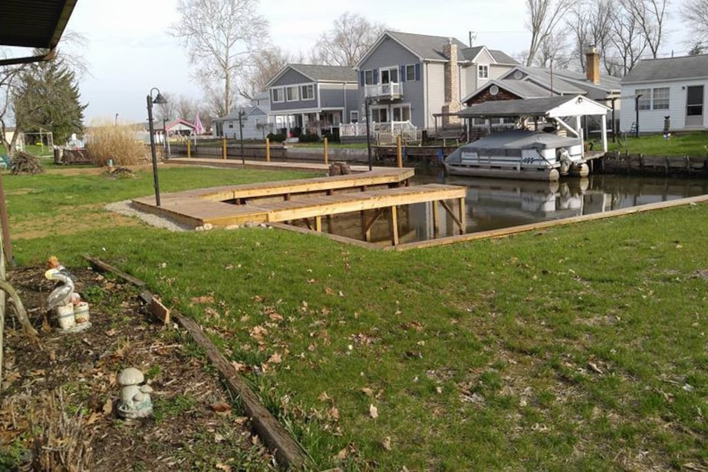 Located on canal and includes a boat slip to dock your boat