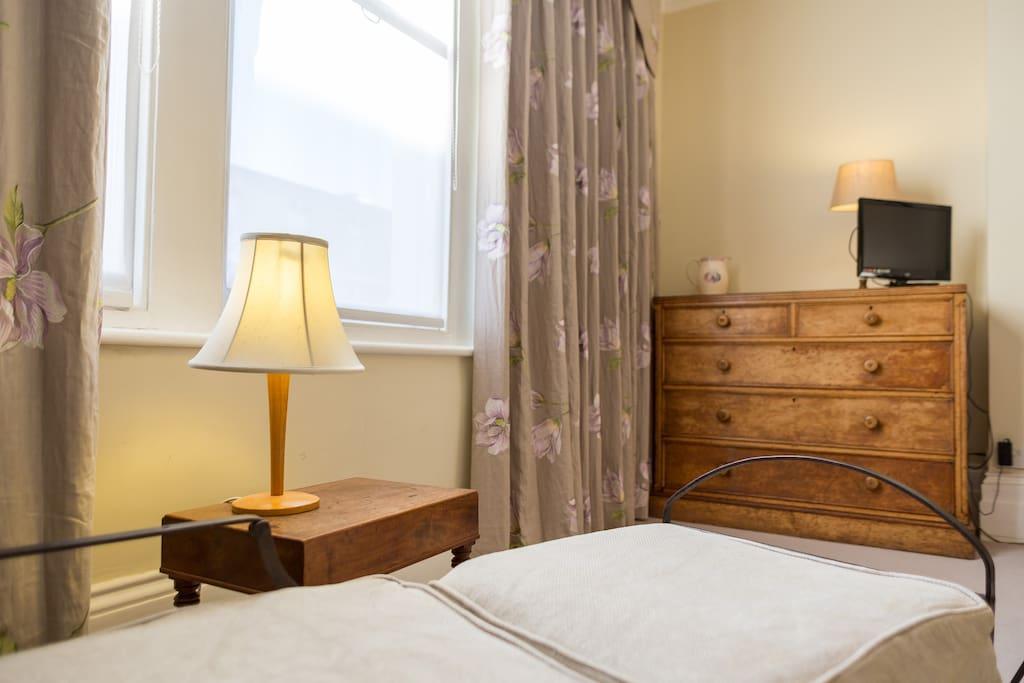 Suite 2 is furnished with antiques and all mod cons.