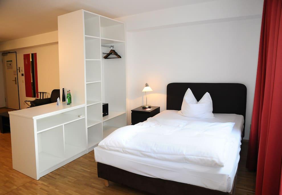 Das ist eines unserer Comfort-Appartements für 1 oder 2 Personen.