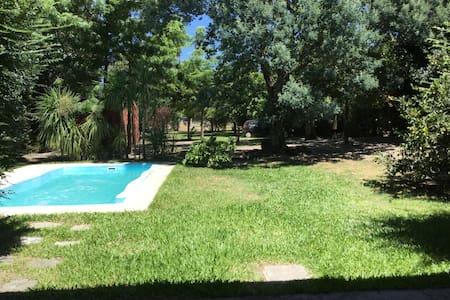 House in large lot + s pool and BBQ - Marindia
