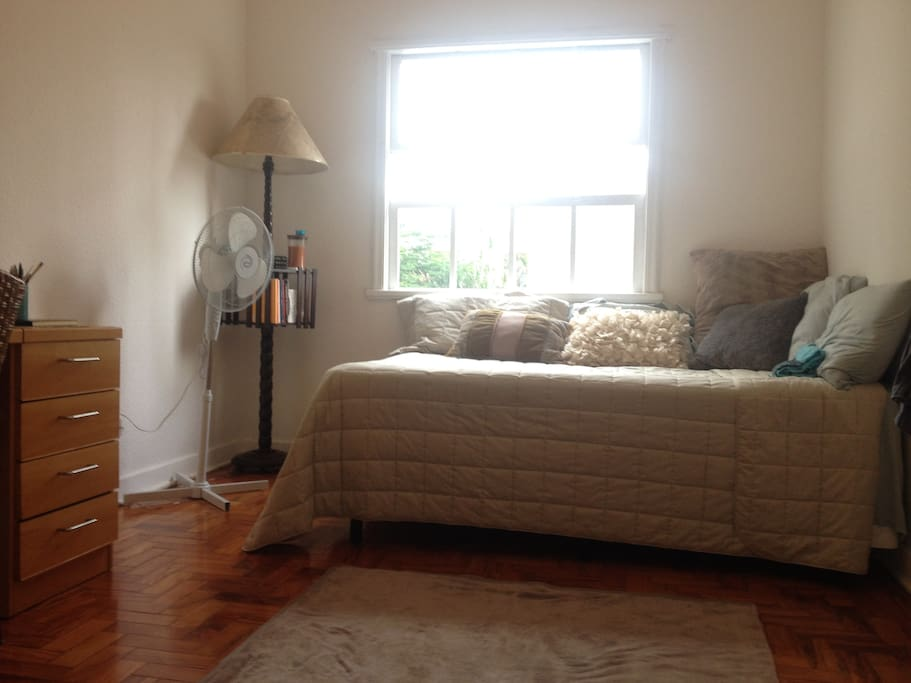 Silent, large, comfy bedroom with beautiful natural light