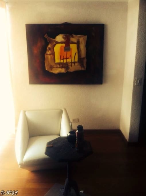 spacious and luminous living-room