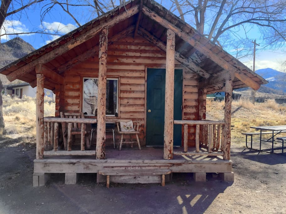 Grow Cabin At Mystic Hot Springs Cabins For Rent In
